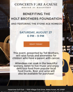 Join Us on 8/20: Concerts Fore A Cause